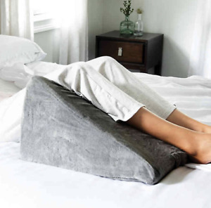 BROOKSTONE Bed WEDGE Nap PILLOW GRAY -Multi position knee wedge- NEW IN BOX!