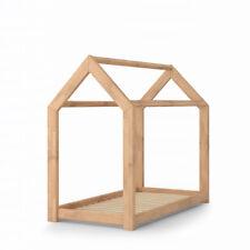 VICCO Lit pour enfants WIKI Lit d'enfant Lit Maison 70x140 bois naturel