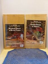 Old Towne Dura-Craft Railroad Depot & Water~Engine House HO Wood Model Kit