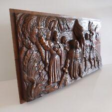 Sculpture haut-relief bois Renaissance Moyen-âge christianisme France