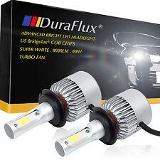 DuraFlux H7 US Bridgelux COB LED Headlight Super White 8000LM 80W w/ Turbo Fan