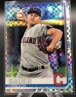 Trevor Bauer 2019 Topps Chrome Prism Refractor Cleveland Indians LA Dodgers