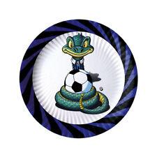 Piatti Inter Sibilo nero azzurro 18 cm Compleanno 10 pz Art 60335