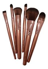 Professional Cosmetic Brush Kit 6 Piece Makeup Brush Set with Artificial Leathe