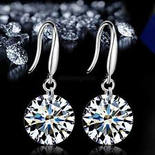 1 Pair Fashion Lady Women Elegant Crystal Rhinestone Dangle Ear Stud Earrings