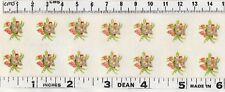 10 Pink Miniature Floral Knots mixed flowers Original VINTAGE Decals Transfers