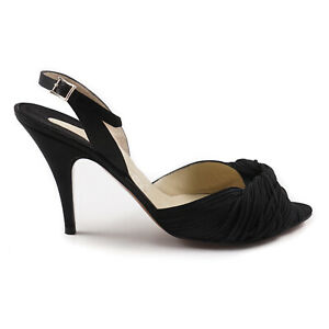 Ferragamo's Creations Limited-Ediiton Satin Slingback Heel 9 / 39.5 $850 Shoes
