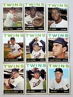 Lot of 9 1964 Topps MINNESOTA TWINS vintage baseball cards HARMON KILLEBREW