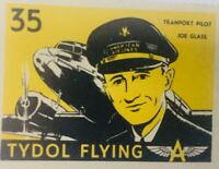 AMERICAN AIRLINES TRANSPORT PILOT TYDOL FLYING JOE GLASS 35 STAMP LABEL VINTAGE