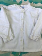 Sweet Toddler Girl Lands' End Ruffle Button Up Ivory 18 Months