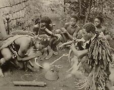 1899 PRINT COLONIAL SOUTH AFRICA SMOKING PARTY ZULULAND TOBACCO NATIVES