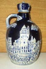 Vintage Cobalt Blue Porcelain Jug Music Box Liquor Decanter