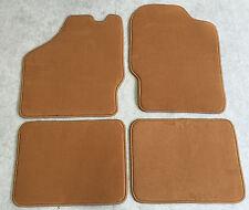 Fußmatten Autoteppich für Citroen CX 1 u. Break Dattel 4tlg. Neu 1974-85 Velours