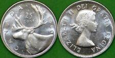 1960 Canada Silver Quarter Graded as Brilliant Uncirculated From Original Roll