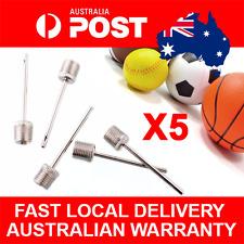 5pcs Air Pump Ball Needle Adapter Nozzel Basketball Football Soccer Rugby Balls