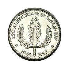 elf Philippines 1 Peso 1967 Silver Bataan Flaming Sword