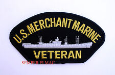 UNITED STATES MERCHANT MARINE VETERAN HAT PATCH USS US NAVY VETERAN 1775 GIFT!