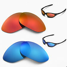 New Walleva Polarized Fire Red + Ice Blue Lenses For Oakley XX/Old Twenty