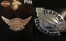 HARLEY DAVIDSON 3D DIE CAST RHINESTONE WINGS PIN