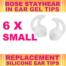 6x Silicone Replacement Small Ear Gel Tips for Bose StayHear Earphone Headphone