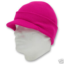 Hot Pink Fusha Ski Cap Knit Beanie Skully Winter Hat Radar Lady Jeep Women Lid