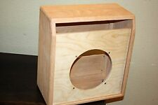 rawcabs Custom oak 1X10 empty combo cabinet for a Rivera Super Champ chassis