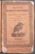 MANUEL RORET ORNITHOLOGIE, DESCRIPTION DES ESPECES D'OISEAUX - 1828