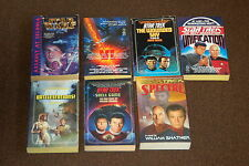Group Of 7 Science Fiction Used Paperback Books Star Trek Star Wars
