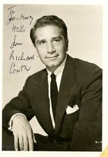 RICHARD CONTE HAND SIGNED & INSCRIBED Vintage 5x7 PHOTOGRAPH