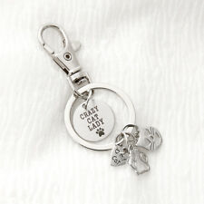 1 Pcs Metal Cat Key Chain Ring Keychain Key Chain Keyring Pendant Jewelry Gifts