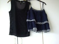 2x TOPS VARIOUS STYLES NEXT & PRIMARK SZ 12 - 1 BRAND NEW