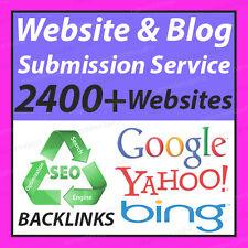 2400+ website Submit WEBSITE or BLOG  SEO LINKS Backlinks Submission RANK Google