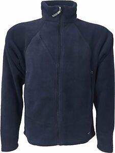 Glanda Polartec Classic 200 Lightweight Fleece Jacket Navy Blue Casual and Sport