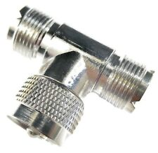 "Liberty CB 48437 CB Radio UHF ""T"" Coax Cable Connector (Female-Male-Female)"