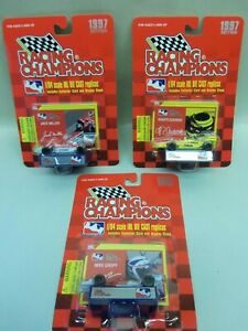 3 Racing Champions 1997 EDITION INDY RACING LEAGUE 1:64 scale CARS