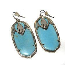 Kendra Scott Darby Earrings Turquoise Blue Goldtone