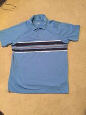Under Armour Blue Fitted Polo Short Sleeve Short Size L