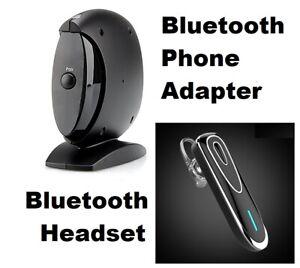 Bluetooth Phone Adapter + 5.0 Bluetooth Headset for Landline Phone Lines
