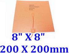 8 X 8 200 X 200mm 3m Thermistor Cube Prusa I3 Reprap Printer Heated Bed Ce Ul