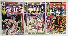 John Carter Warlord of Mars Comics Lot (3) - Vintage 1978 1979 Marvel
