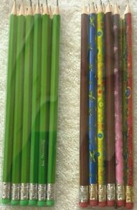 12 x HB pencils With Rubber Eraser Tip School Stationary Office Kids