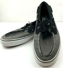 Vans Off The Wall Mens 13 Zapato Del Barco Skate Canvas Boat Shoes Gray/Black