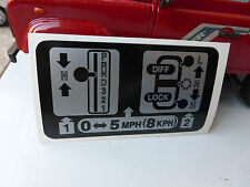 Land Rover Defender NAS Warning Decal Automatic Transmission Auto Box BTR9547