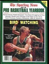 The Sporting News Magazine 1987-88 Pro Basketball Yearbook EX 012817jhe