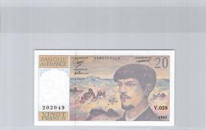France 20 Francs Debussy 1990 V.028 n° 0695202049 Pick 151d Neuf