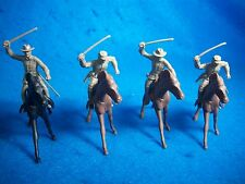 Marx reissue 54mm Civil War Confederate Cavalry Toy Soldiers w/horses(Butternut)