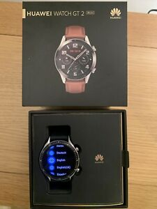 Huawei Watch GT 2 Classic Edition 46mm Stainless Steel Case with Pebble Brown...
