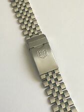 Vintage TAG HEUER men's  WATCH BAND 18mm 494/3  Stainless Steel Great Condition