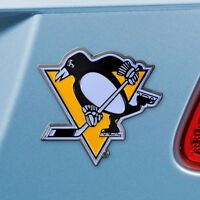 Pittsburgh Penguins Heavy Duty Metal 3-D Color Auto Emblem