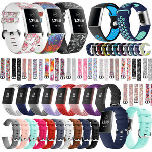 for FitBit Charge 3 Strap Replacement Wrist Watch Band Soft Silicone Buckle